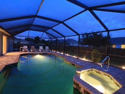Enjoy a relaxing evening swim in the electrically heated pool and spa