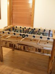 Stanardsville cabin photo - Log foosball table.