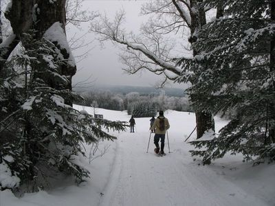 Snowshoeing, cross-country skiing, snow boarding  -- right out your back door