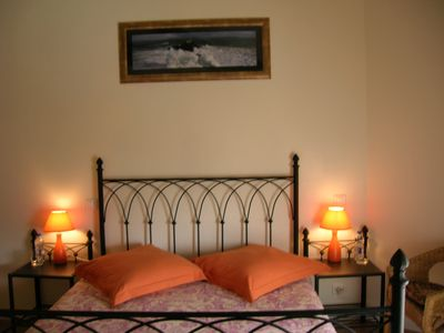Saintes area farmhouse rental - Bedroom 1. - en suite.