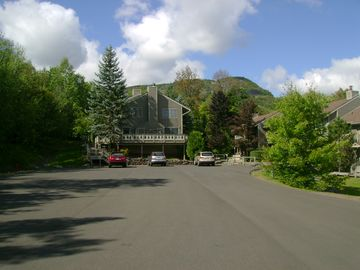 Hunter condo rental - Plenty or parking in new paved lot just a few steps from the condo.