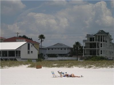 View of Beachwalk townhouse from the beach