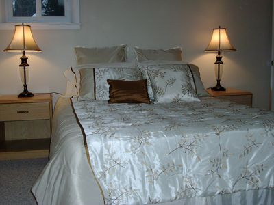 Traverse City house rental - Bedroom #3 with queen size bed.