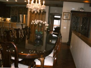 Mammoth Lakes townhome photo - Mahogonay Dinning Table seats 10