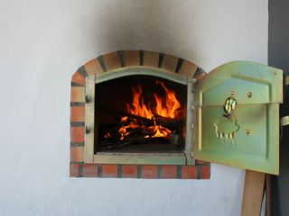 Terceira Island house photo - Close up of wood burning outdoor oven
