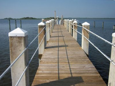 Point Matanzas private dock - great for fishing, relaxing, sunsets