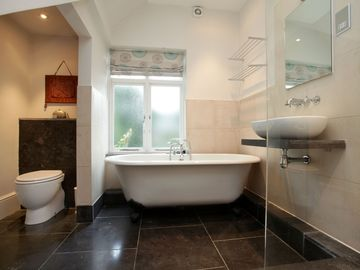 Light the candles and soak in the HUGE free standing tub! Its divine :)