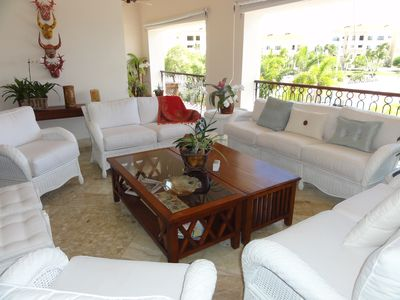 Punta Cana condo rental - Terrace, Sitting Area