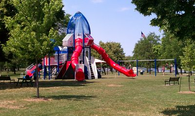 Lake Winnebago house rental - Rocket Ship Park. A kids favorite!