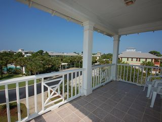 Fort Morgan property rental photo - The private balcony gets a great Gulf breeze. The Osprey Pool is across street!