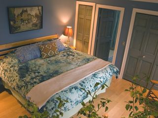 Alburg estate photo - Master bedroom #1 with private deck.