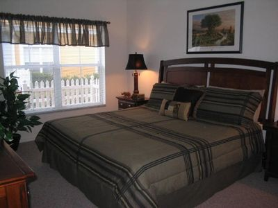 Venetian Bay townhome rental - Master Bedroom with full master bath including jacuzzi