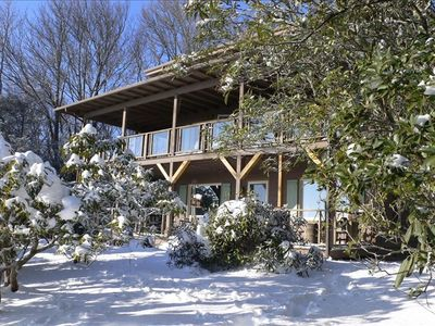 Blowing Rock house rental - partial exterior to enjoy spectacular views and gardens