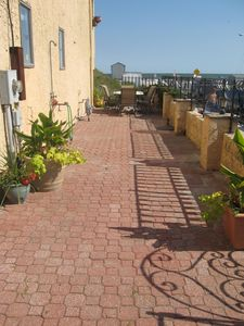Brigantine townhome rental - Oceanfront gated side patio!