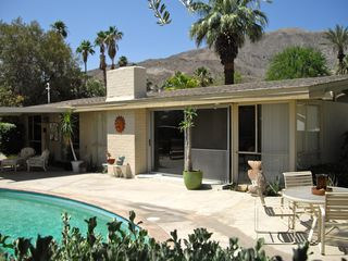 Rancho Mirage house photo - Backyard view with mountains.