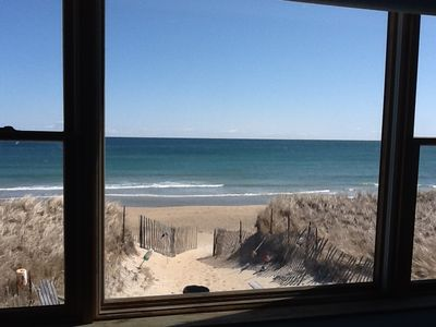 View from Oceanfront Bedroom (same in both 3 & 4 bedroom rentals)