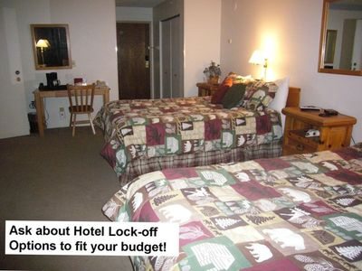 Guest Bedroom – Two queen beds w/full bath and hotel lockoff.