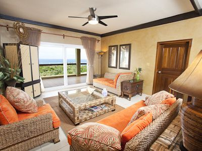 Beautifully decorated living area with a touch of Island flavor!