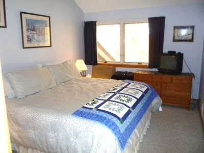 Killington townhome rental - Master Bedroom with King Size Bed and Private Bath