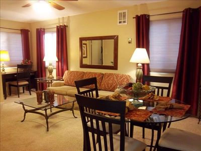 Prescott apartment rental - Aspen Cottage is lovely and functional. Queen sofa bed, desk area, dining for 4.