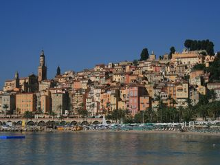 Menton villa photo - Old town of Menton from private beaches
