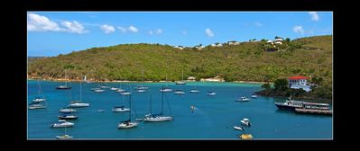 Cruz Bay condo rental - Beautiful unobstructed view of Cruz Bay from the balcony