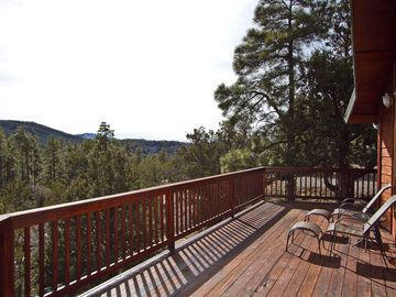 Upper deck views. 1500sf of deck to view the pines and mountains.