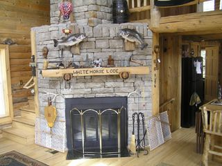 Idaho Springs house photo - Stone Fireplace