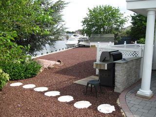 Waretown house photo - Gas Grill & Foot Path to Dock #1
