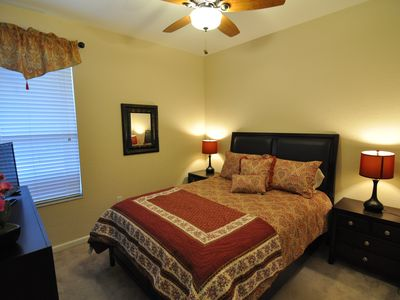 "Master Bedroom 4 - Queen bed with 32"" LED TV, ground floor"