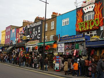 Camden Town shops, 2 minutes from the apartment