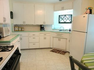 Fullerton house photo - Large Kitchen with Stove, Refrigerator, Microwave, Dishes, Utensils Provided