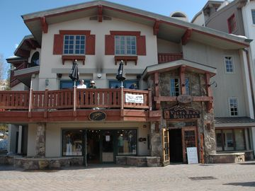 Tryst condo rental - Vista Bahn Building at top of Bridge Street in Vail. Tryst is on 4th floor