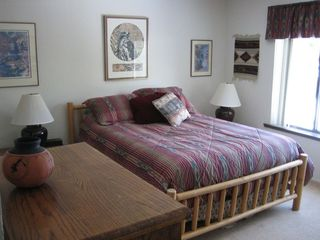 Master bedroom, queen bed, trundle bed to the right (not in photo)