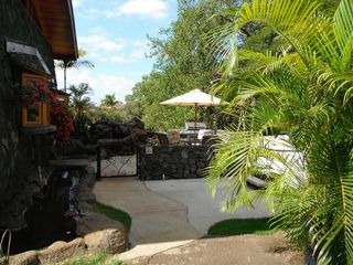 Kihei cottage photo - view of patio, jaccuzzi to the right