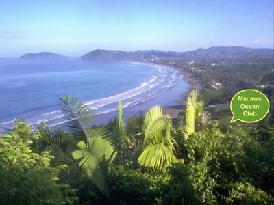 Beautiful Jaco Beach showing the location of Macaws Ocean Club #10