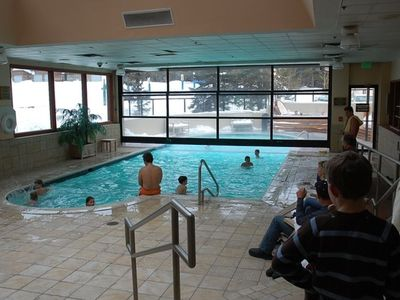 indoor/outdoor heated swimming pool, outdoor hottubs