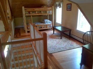 West Dover house photo - Loft bunkbeds and study area (WiFi)