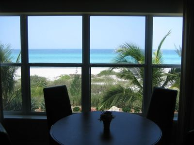 Beachfront view from Great Room.  Condominium with with pool facing Gulf