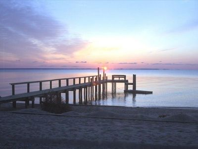 A sunrise you'll see while staying at Ria Casa, Sandy Point, VA