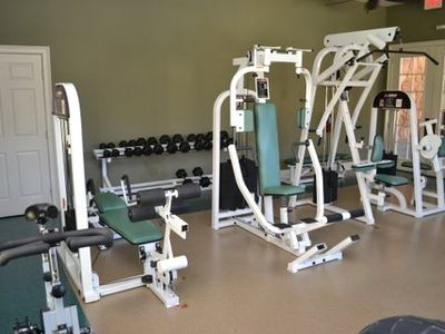 Loads of gym equipment...