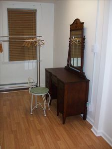 Dressing Room - Vanity, clothing rack, plenty space for luggage storage