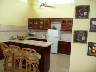 Cabarete villa photo - Large kitchen with island seating