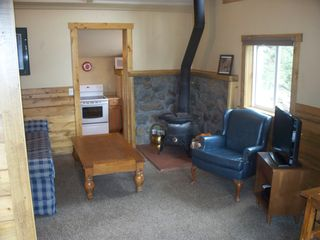 Estes Park cabin photo - Living area in smaller cabin