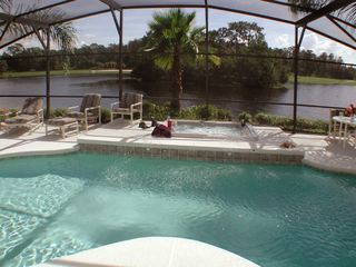 Lake Berkley villa photo - Pool and spa over looking our special island of nature