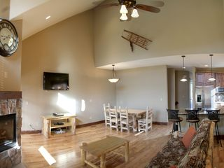 Silverthorne townhome photo - View of the living room and dining.