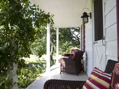 views ... covered front porch, enjoy reading or working from home with WI-FI