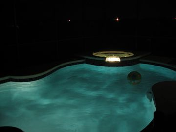 Pool and Spa at night