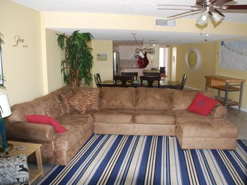 Key Largo condo rental - Photo looking back at front door from balcony, again very spacious.