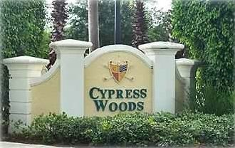 Entrance to the Cypress Woods Country Club
